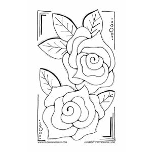 Free Roses Coloring Page