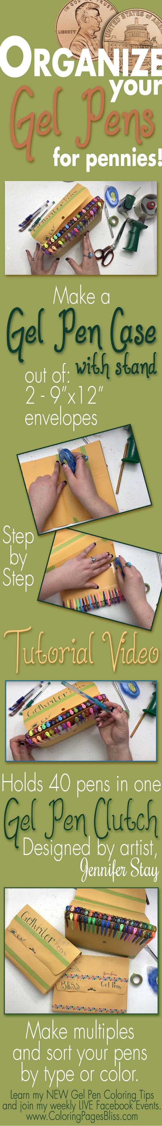 How to Make a Gel Pen Case