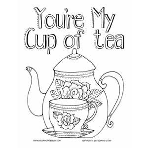 Cute Tea Set Color Sheet