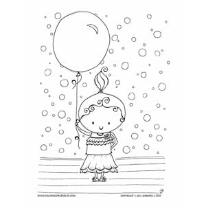 Baby Girl with Balloon