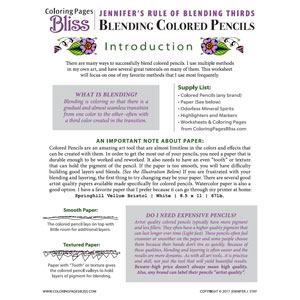 Jennifer's Rule of Blending Thirds Worksheet