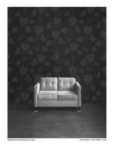 Love Seat Grayscale Image