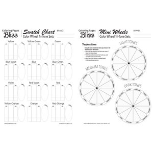 Color Wheel Tri-Tone Sets Blank Worksheet