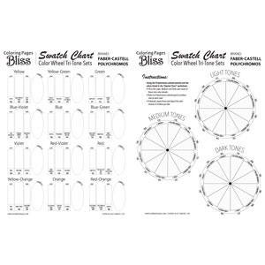 Color Wheel Tri-Tone Sets - Polychromos Worksheet