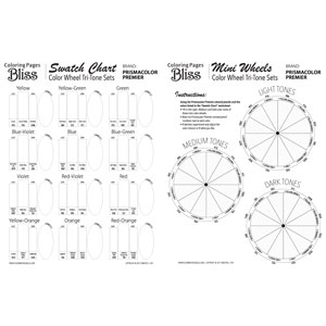 Color Wheel Tri-Tone Sets - Prismacolor Worksheet