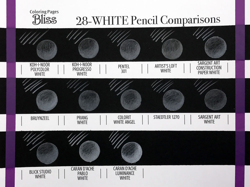 White Colored Pencil Comparisons - Page 2