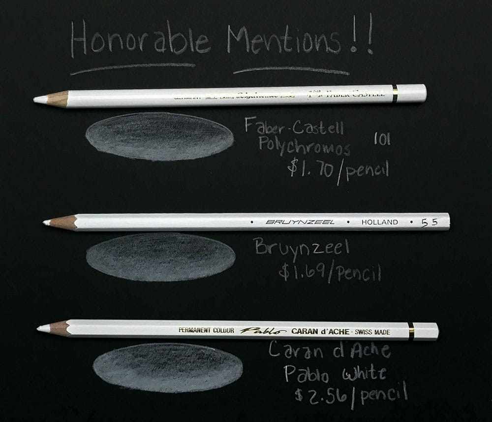 Honorable Mentions - White Colored Pencils