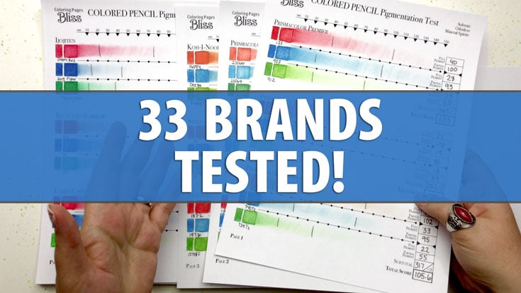 33 Colored Pencil Brands Tested for Pigment