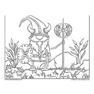 Scandinavian Gnome in Viking Halloween Costume