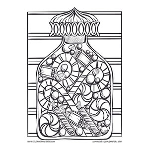 750 Top Coloring Pages Of Christmas Candy For Free