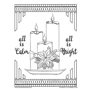 All is Calm, All is Bright Coloring Page