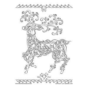 Elegant Reindeer Art
