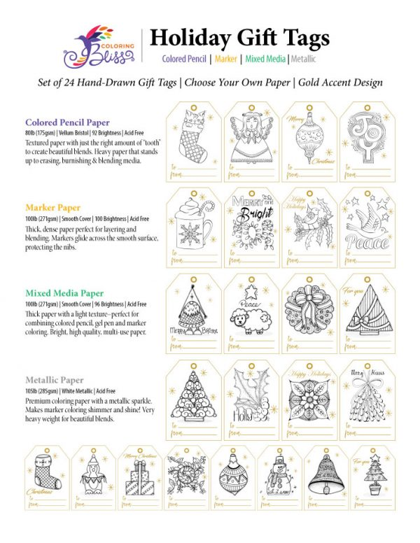 Hand-Drawn Holiday Gift Tags