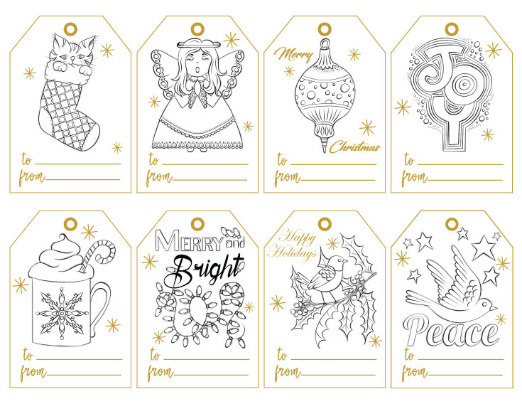 Hand-Drawn Holiday Gift Tags Volume 1