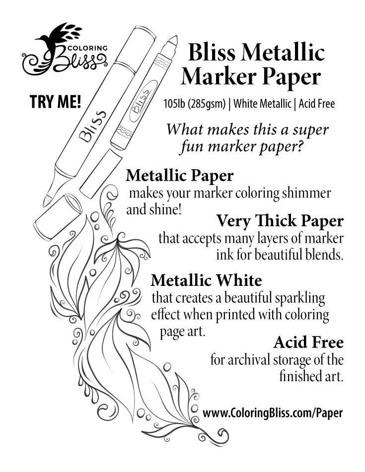 Metallic Marker Paper