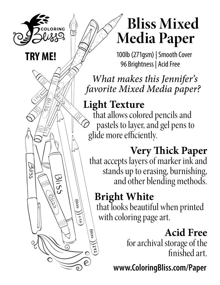 Bliss Mixed Media Paper