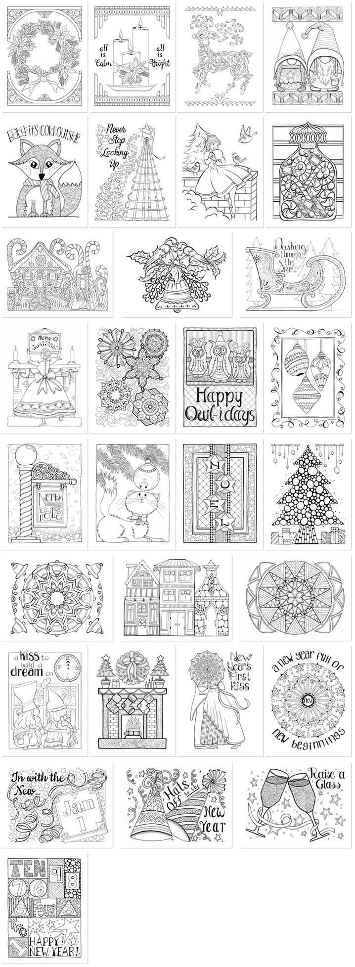 Holiday Bliss Volume 1 Page Thumbnails