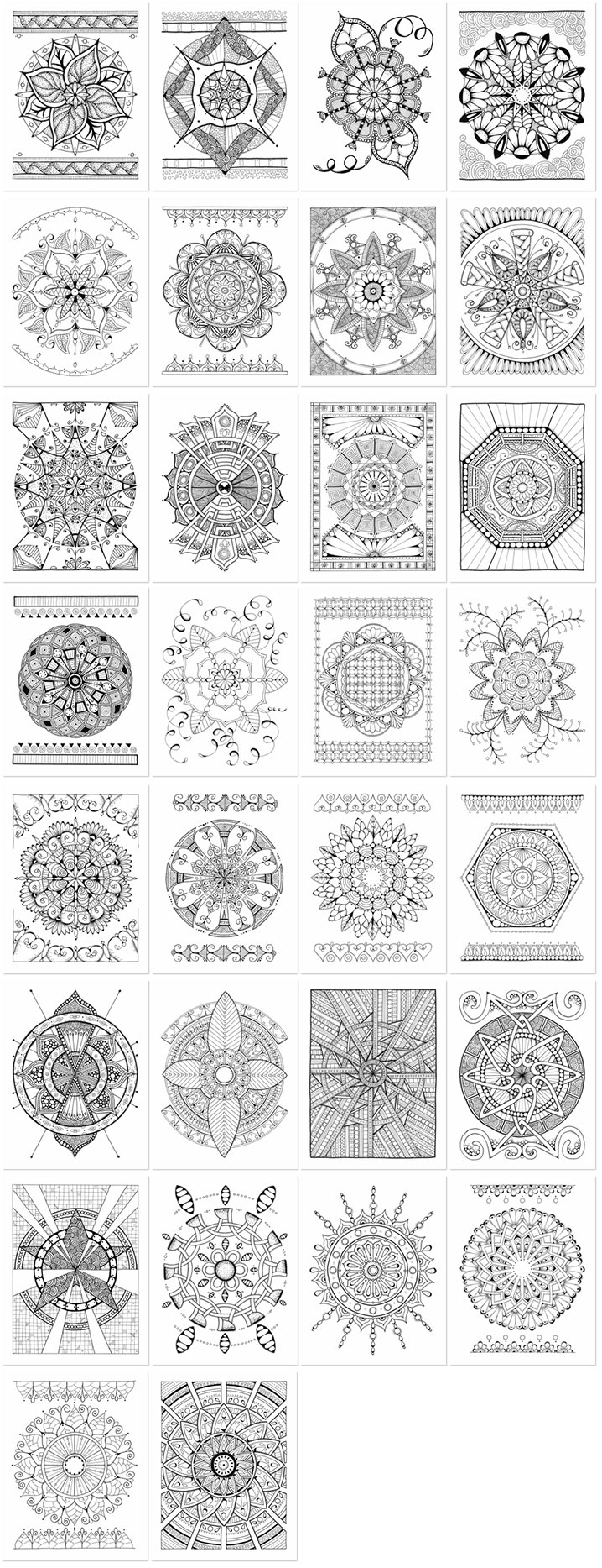 Mandala Bliss Coloring Book Thumbnails