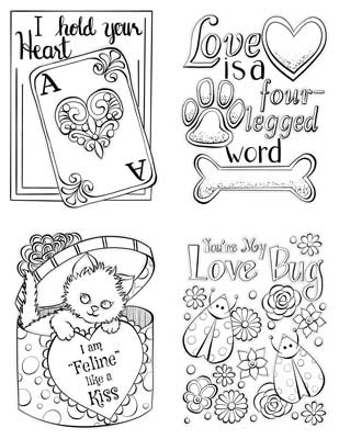 Valentine's Cards to Color