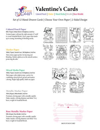 Color Your Own Valentine's Cards