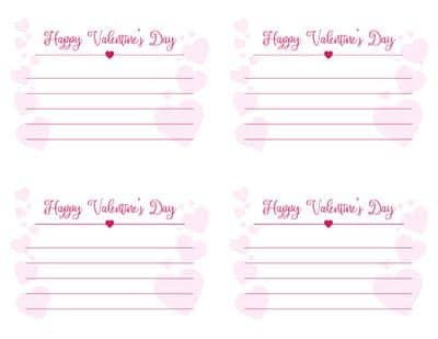 Happy Valentines Message Card