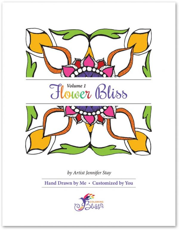 Flower Bliss Coloring Book