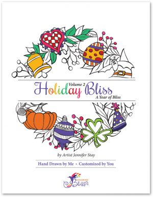 Holiday Bliss Volume 2 Coloring Book