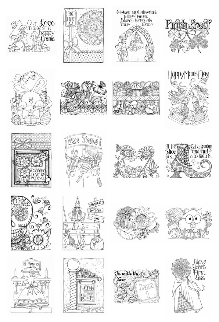 Holiday Bliss Volume 2 Page Thumbnails