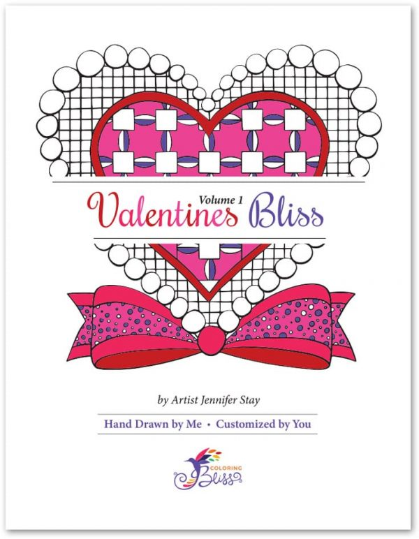 Valentine's Bliss Volume 1 Coloring Book