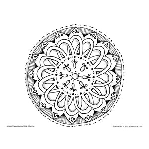 Simple Pretty Mandala