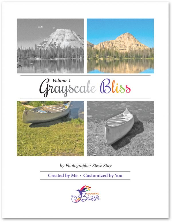 Grayscale Bliss Volume 1 Coloring Book