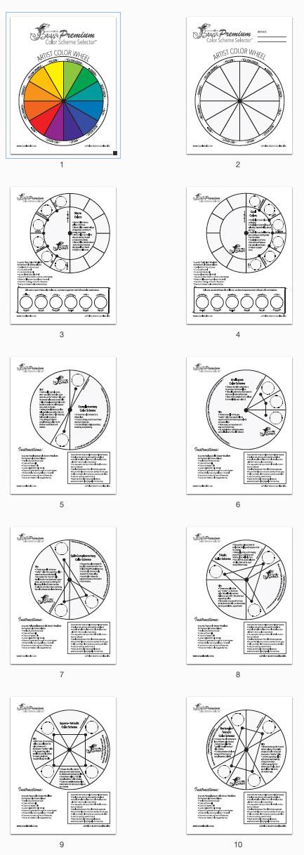 Premium Color Scheme Selector Thumbnail Pages