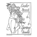 Easter Bonnet Coloring Page