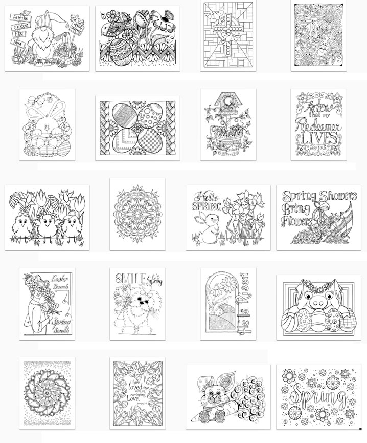 Easter Bliss Volume 1 Page Thumbnails