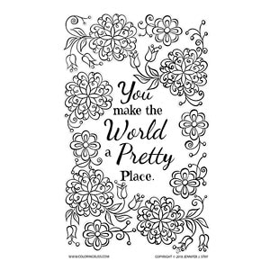 Inspirational Coloring Card