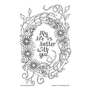 Inspirational Coloring Page for Mother's Day