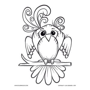Adorable Little Bird Coloring Page for Adults