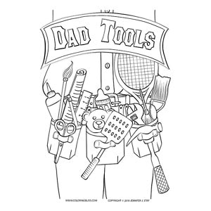 Dad Tools Father S Day Coloring Page
