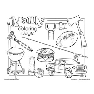 A Manly Coloring Page