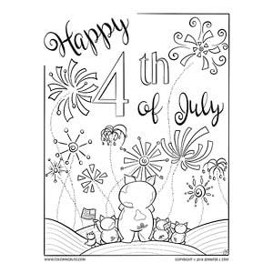 Patriotic Piggies Coloring Page