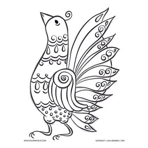 Folk Art Hen