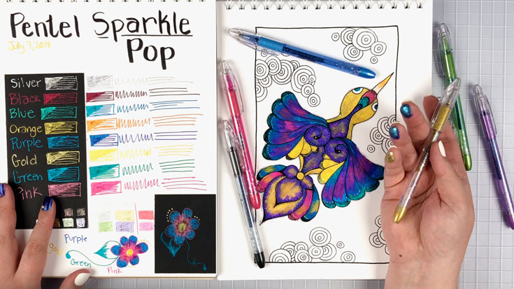 Pentel Sparkle Pop Metallic Gel Pens Review