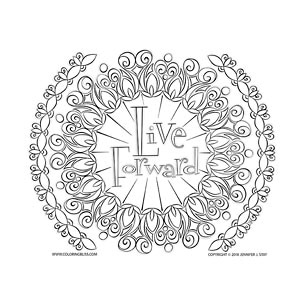 Live Forward Inspirational Coloring Page