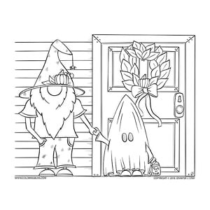 Halloween Gnomes Trick-or-Treating