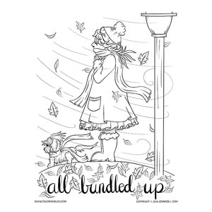 Cute Autumn Coloring Page