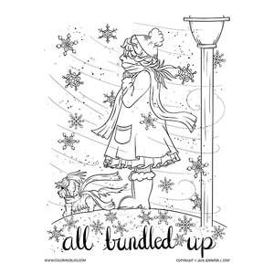 Fun Winter Coloring Page