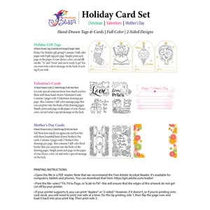Coloring Bliss Holiday Tags & Cards