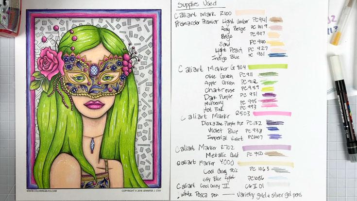 Masquerade Coloring Session