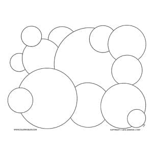Spheres Coloring Page