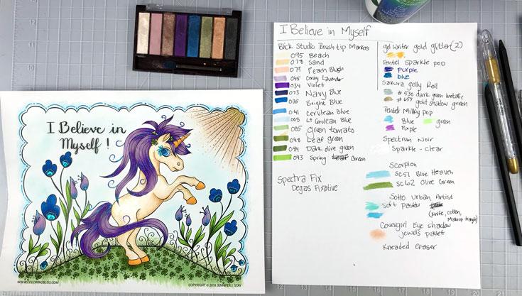 Unicorn Coloring Session